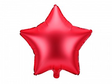 Foil balloon Star, 48cm, red