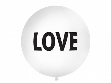 Giant Balloon 1 m, Love, white