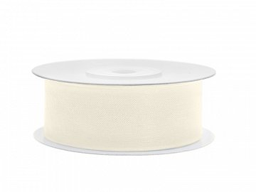 Chiffon Ribbon, light cream, 25mm/25m (1 pc. / 25 lm)