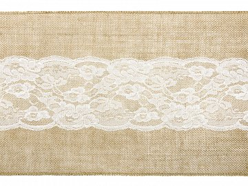 Burlap table runner, 0.28x2.75m