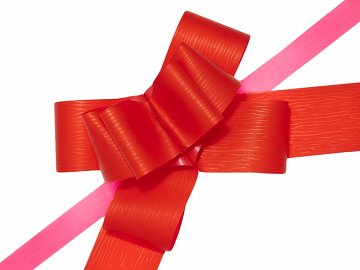 Pull bow, red, 5cm (1 pkt / 10 pc.)
