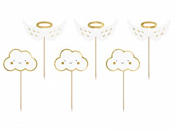 Cupcake toppers - Clouds and Wings, 12.5 cm (1 pkt / 6 pc.)
