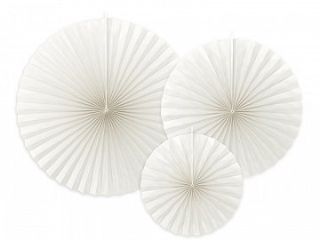 Decorative Rosettes, off-white (1 pkt / 3 pc.)