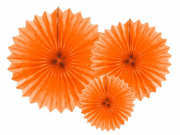 Tissue fan, orange, 20-40cm (1 pkt / 3 pc.)