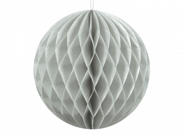 Honeycomb Ball, light grey, 10cm
