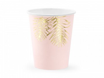 Cups Leaves, light pink, 220ml (1 pkt / 6 pc.)