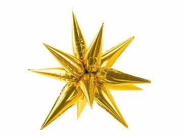 Foil balloon Star 3D, 95cm, gold