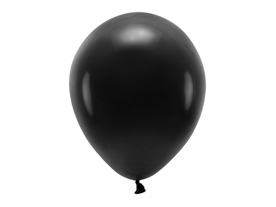 Eco Balloons 30cm pastel, black (1 pkt / 10 pc.)
