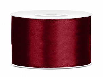 Satin Ribbon, deep red, 38mm/25m