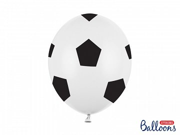 Balloons 30cm, Football, Pure White (1 pkt / 6 pc.)