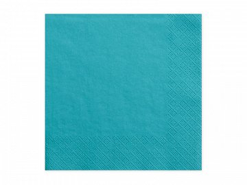 Napkins, 3 layers, turquoise, 33x33cm (1 pkt / 20 pc.)
