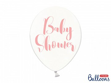 Balloons 30cm, Baby Shower, Crystal Clear (1 pkt / 6 pc.)