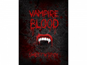 Bottle labels for alcohol Vampire Blood (1 pkt / 10 pc.)