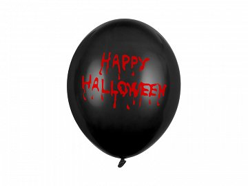 Balony 30cm, Happy Halloween, Pastel Black (1 op. / 50 szt.)