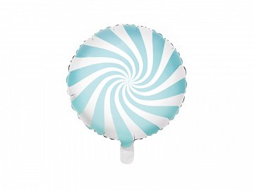 Foil Balloon Candy, 45cm, light blue