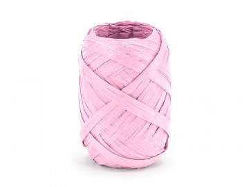 Raffia ribbon, 5mm/10m, pink