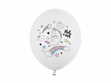 Balloons 30cm, Unicorn, Pastel Pure White (1 pkt / 50 pc.)