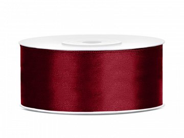 Satin Ribbon, deep red, 25mm/25m (1 pc. / 25 lm)