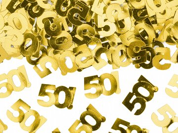 Metallic confetti, number 50, 15g