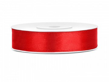 Satin Ribbon, red, 12mm/25m (1 pc. / 25 lm)