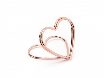 Place card holders Hearts, rose gold, 2.5 cm (1 pkt / 10 pc.)