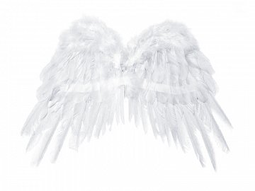Angel's wings, white, 53 x 37cm