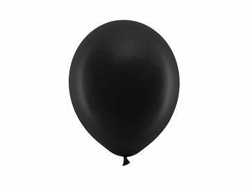 Rainbow Balloons 23cm pastel, black (1 pkt / 100 pc.)