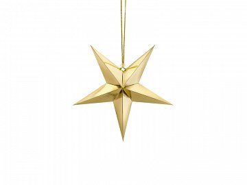 Paper star, 30cm, gold