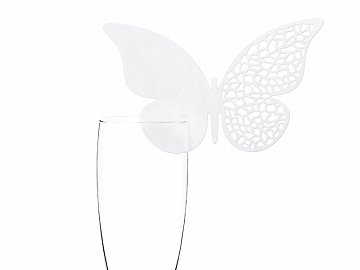Place cards Butterfly, 12.5 x 7.6cm (1 ctn / 50 pkt) (1 pkt / 10 pc.)
