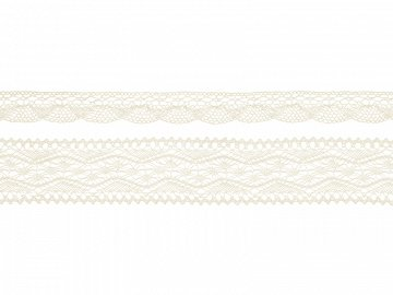 Laces, cream (1 ctn / 32 pkt) (1 pkt / 2 pc.)