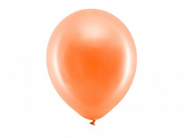 Rainbow Balloons 30cm metallic, orange (1 pkt / 100 pc.)