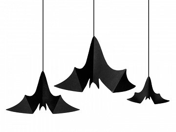 Hanging decoration Bats, black (1 pkt / 3 pc.)