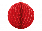 Honeycomb Ball, red, 10cm