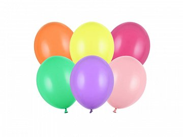 Strong Balloons 12cm, Pastel Mix (1 pkt / 100 pc.)