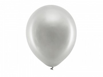 Rainbow Balloons 30cm metallic, silver (1 pkt / 100 pc.)
