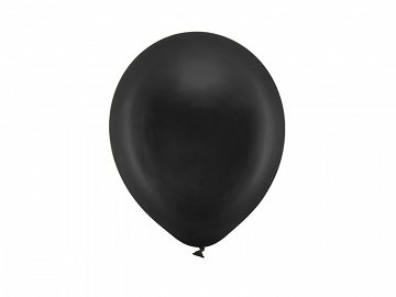 Rainbow Balloons 23cm metallic, black (1 pkt / 100 pc.)