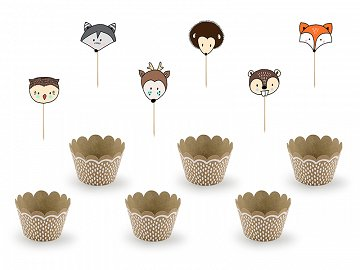Cupcake kit Woodland (1 pkt / 6 pc.)