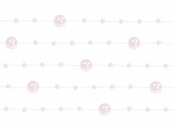 Pearl garlands, light pink, 1.3m (1 pkt / 5 pc.)