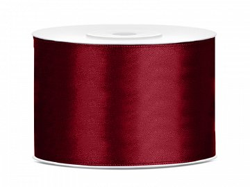 Satin Ribbon, deep red, 50mm/25m