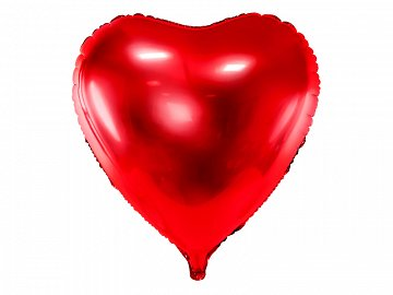 Foil balloon Heart, 72x73cm, red