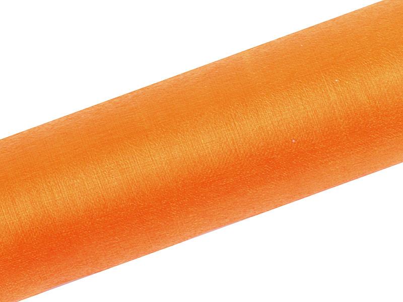 Organza oranžová 16cm 6ks