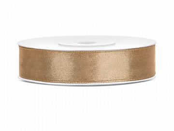Satin Ribbon, light gold, 12mm/25m