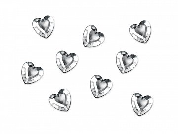 Embelishments Heart, silver, 12mm (1 pkt / 50 pc.)