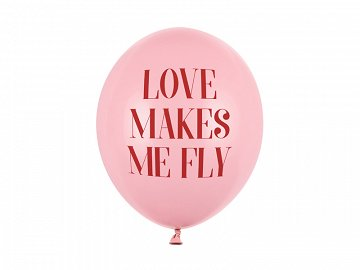 Balony 30 cm, Love makes me fly, Pastel Baby Pink (1 op. / 50 szt.)