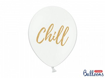 Balony 30cm, Chill, Pastel Pure White (1 op. / 50 szt.)