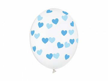 Balloons 30cm, Hearts, Crystal Clear (1 pkt / 50 pc.)