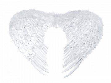 Angel's wings, white, 76 x 55cm