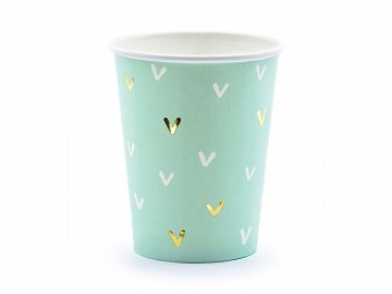 Paper cups Cactus, mix, 220ml (1 pkt / 6 pc.)
