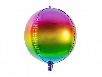 Foil Balloon Rainbow Ball, 40cm