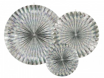 Decorative Rosettes, holographic (1 pkt / 3 pc.)